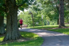 Residents want more paved trails, like this one in Devou Park.