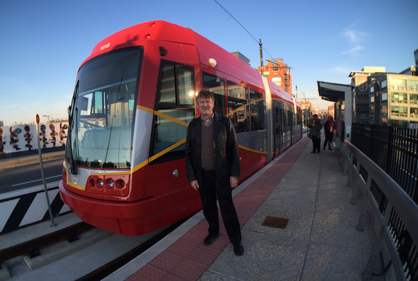 Ian Budd tried the new Washington D.C. streetcar while visiting federal officials earlier this year