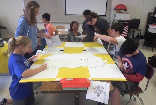 Pendleton County students create sheep-inspired artwork.