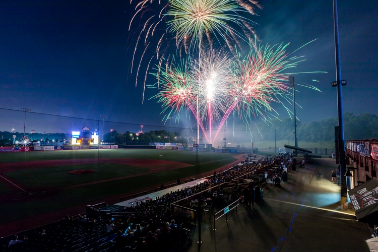 Friday fireworks are a tradition started by Clint Brown.