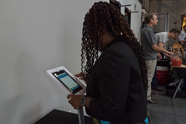 Attendees were able to take the Wyzerr survey on their smartphones or a tablet.