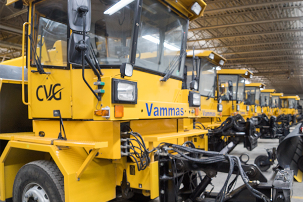CVG houses multi-function machines to manage snow removal on the 7,500-acre property.
