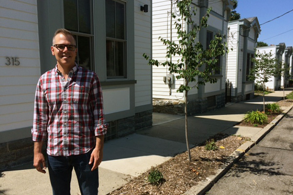 Adam Rockel, The Center's real estate develpment manager, oversaw the Shotgun Row project.