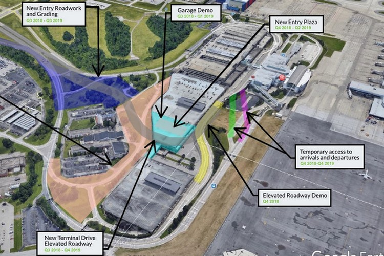 An overview map of the CVG grounds, with details on specifics related to the current project work.