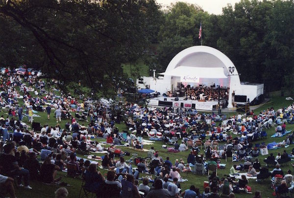 Large crowd turns out for KSO performance in Devou Park's bandshell