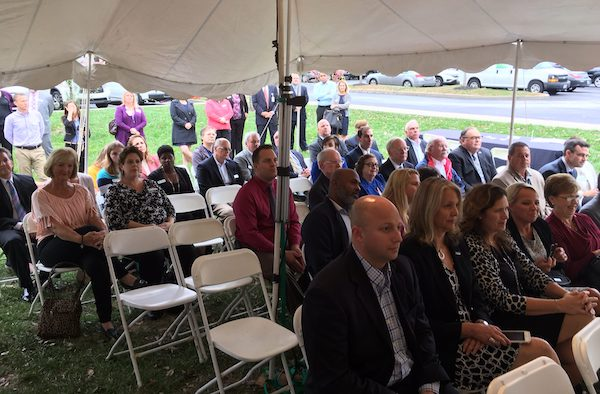 Crowd at groundbreaking ceremony included elected officials, community leaders and members of the R.C. Durr YMCA board of directors and staff